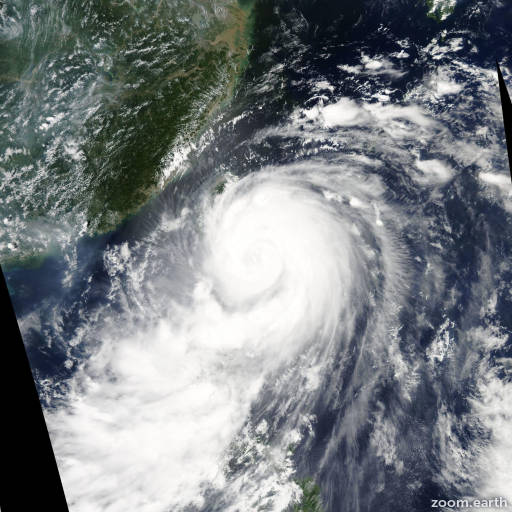 Satellite image of Typhoon Matmo 2014
