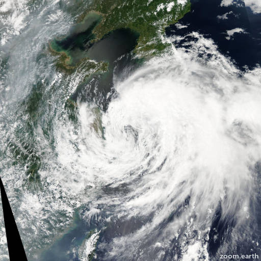 Satellite image of Storm Nakri 2014