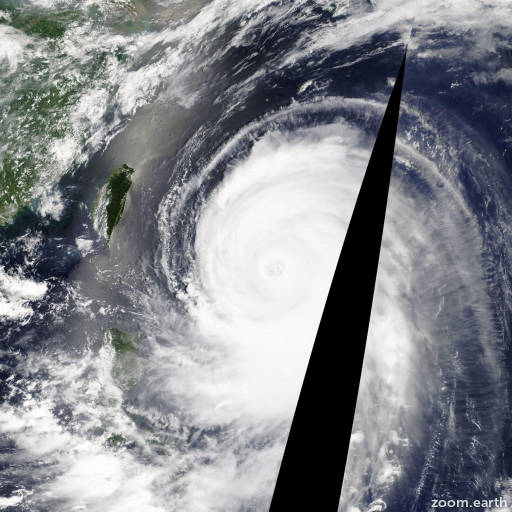 Satellite image of Typhoon Neoguri 2014