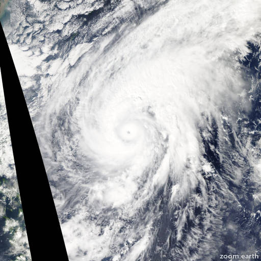 Satellite image of Typhoon Nuri 2014