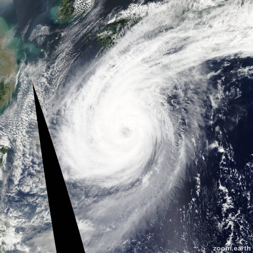 Satellite image of Typhoon Phanfone 2014