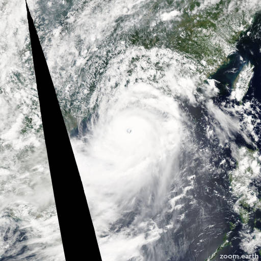 Satellite image of Typhoon Rammasun 2014