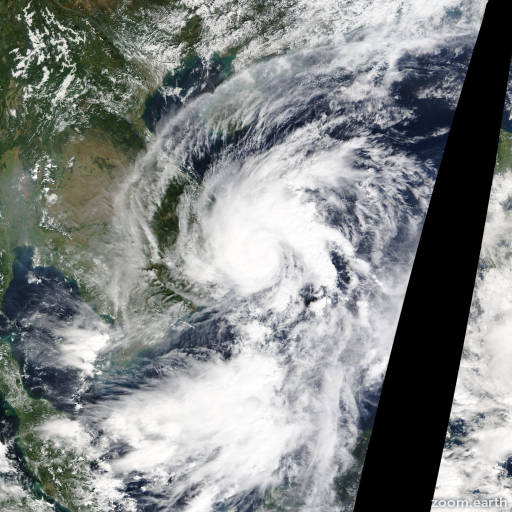 Satellite image of Storm Sinlaku 2014