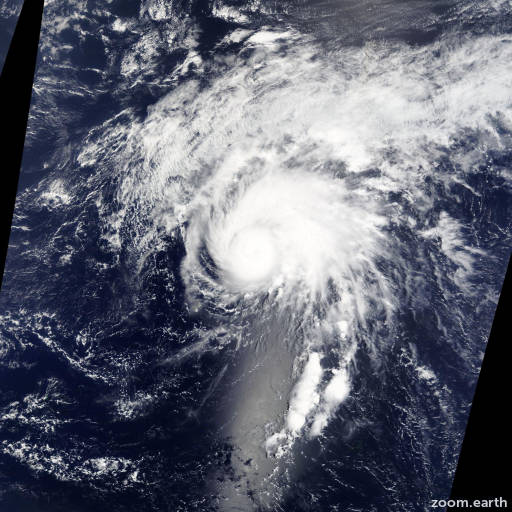Satellite image of Storm Tapah 2014