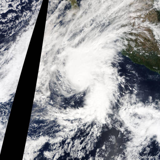 Satellite image of Hurricane Vance 2014