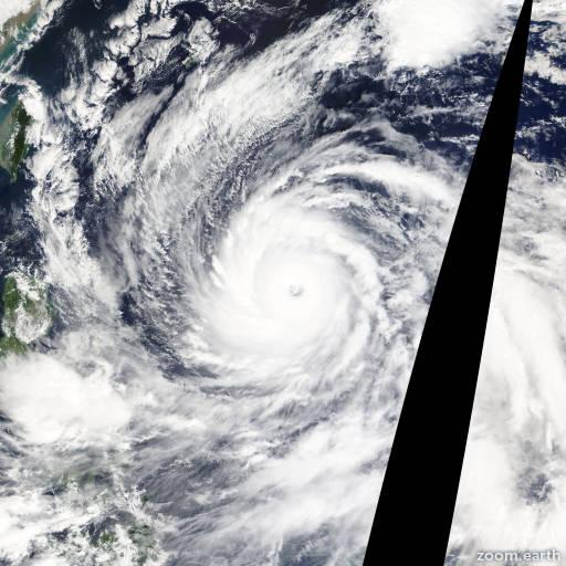 Satellite image of Typhoon Vongfong 2014