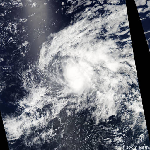 Satellite image of Storm Wali 2014