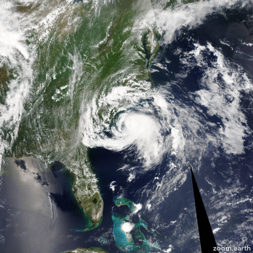 Satellite image of Storm Ana 2015