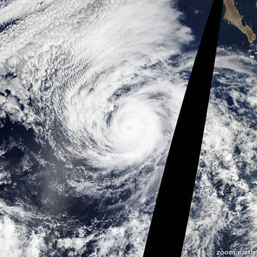 Satellite image of Hurricane Andres 2015