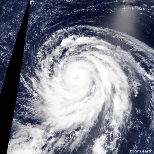 Satellite image of Typhoon Atsani 2015