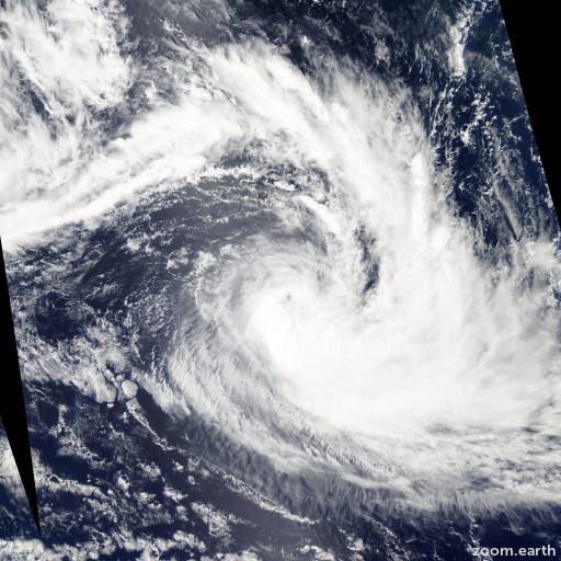 Satellite image of Storm Diamondra 2015