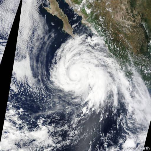 Satellite image of Hurricane Dolores 2015