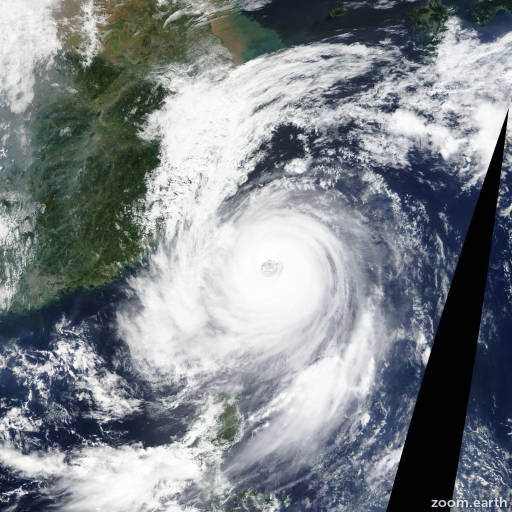 Satellite image of Typhoon Dujuan 2015