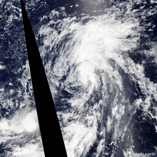 Satellite image of Storm Ela 2015