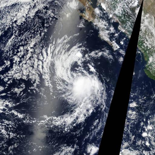 Satellite image of Storm Felicia 2015