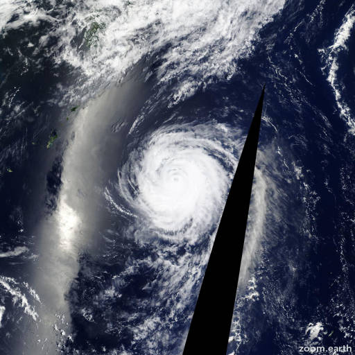 Satellite image of Typhoon Halola 2015