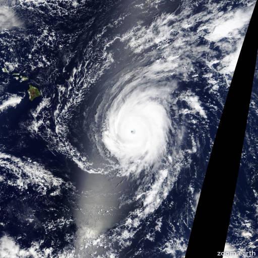 Satellite image of Hurricane Ignacio 2015