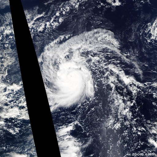 Satellite image of Typhoon In-Fa 2015