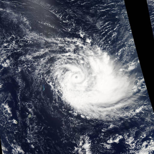 Satellite image of Cyclone Joalane 2015
