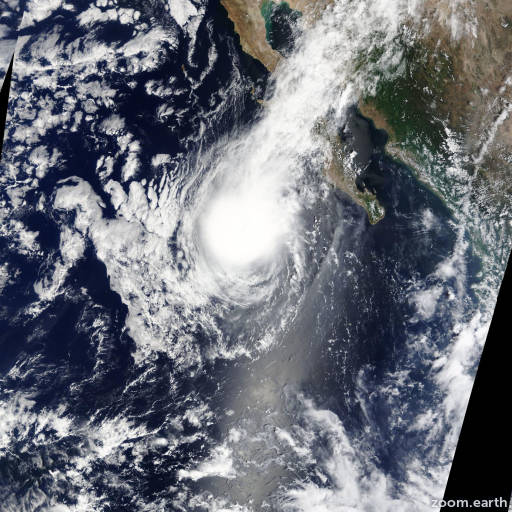 Satellite image of Storm Kevin 2015