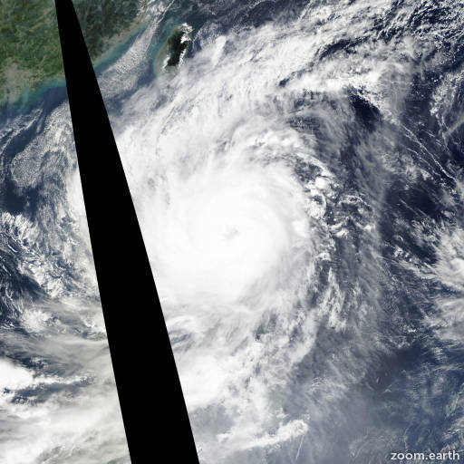 Satellite image of Typhoon Koppu 2015
