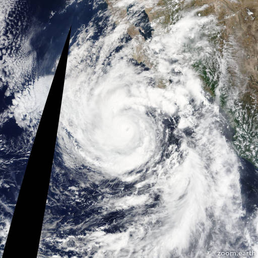 Satellite image of Hurricane Linda 2015