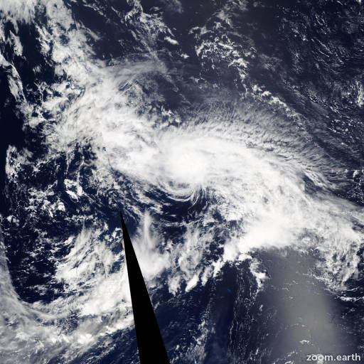 Satellite image of Hurricane Loke 2015