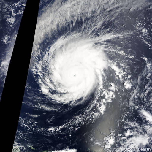 Satellite image of Typhoon Maysak 2015