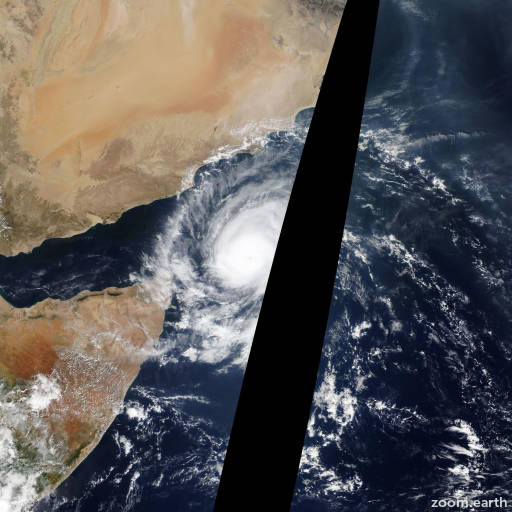 Satellite image of Cyclone Megh 2015