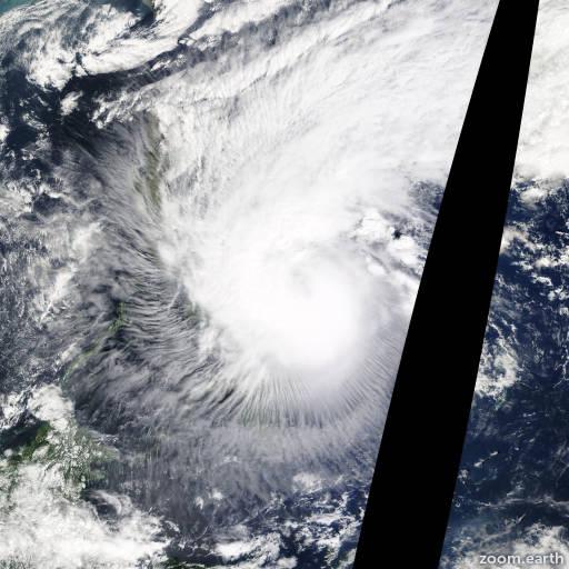 Satellite image of Storm Mekkhala 2015