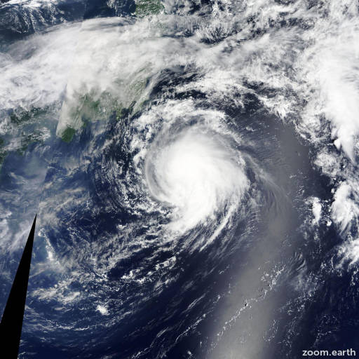 Satellite image of Storm Molave 2015