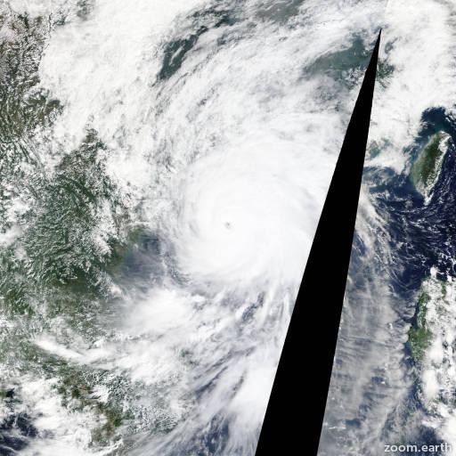 Satellite image of Typhoon Mujigae 2015