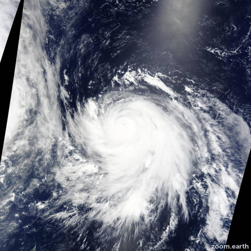 Satellite image of Typhoon Nangka 2015