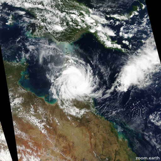 Satellite image of Cyclone Nathan 2015