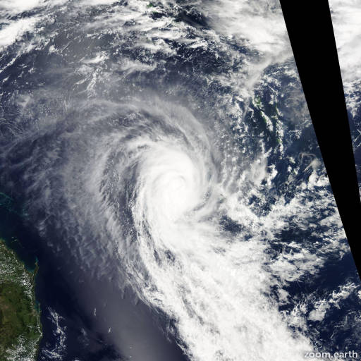 Satellite image of Cyclone Ola 2015