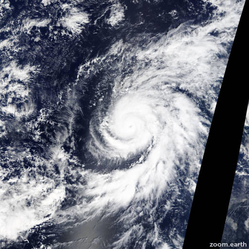 Satellite image of Hurricane Olaf 2015