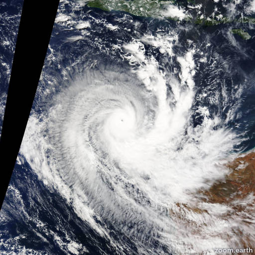 Satellite image of Cyclone Quang 2015