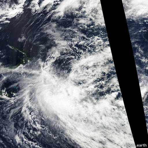 Satellite image of Cyclone Raquel 2015