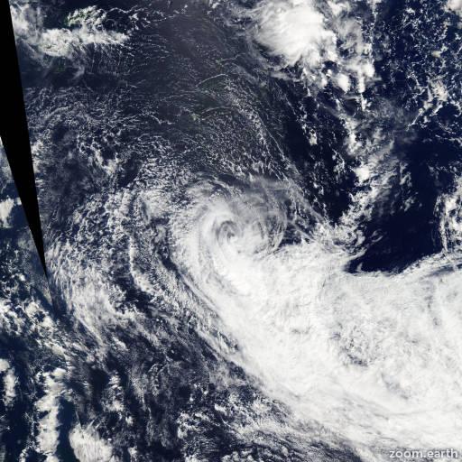 Satellite image of Cyclone Reuben 2015