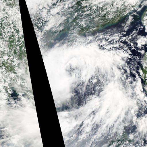 Satellite image of Storm Vamco 2015