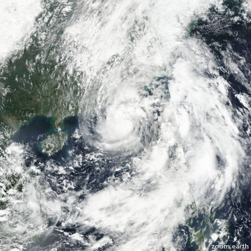 Satellite image of Storm Aere 2016