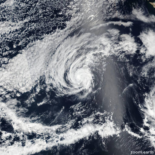 Satellite image of Storm Agatha 2016
