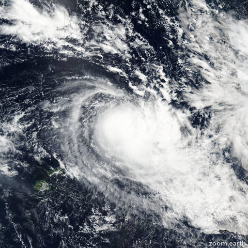 Satellite image of Cyclone Amos 2016