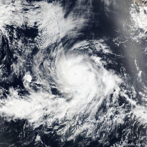 Satellite image of Hurricane Blas 2016