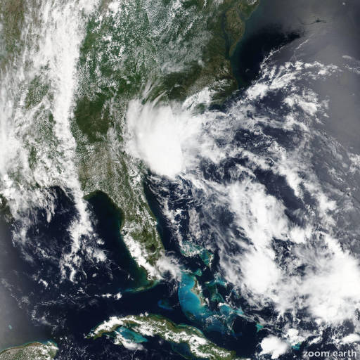 Satellite image of Storm Bonnie 2016