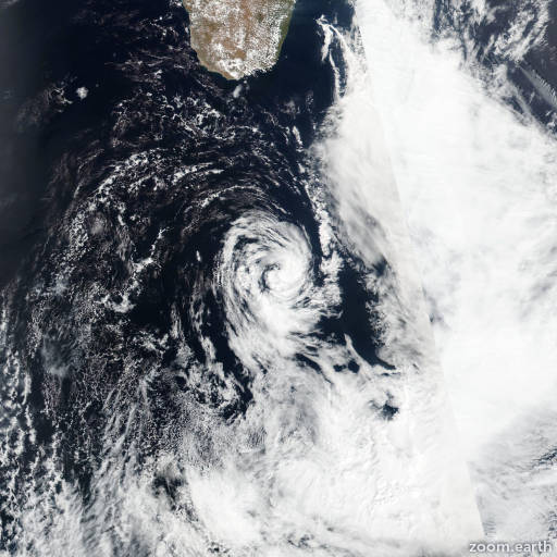Satellite image of Storm Bransby 2016