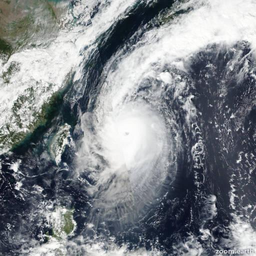 Satellite image of Typhoon Chaba 2016