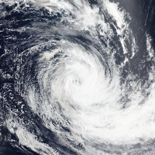 Satellite image of Cyclone Corentin 2016