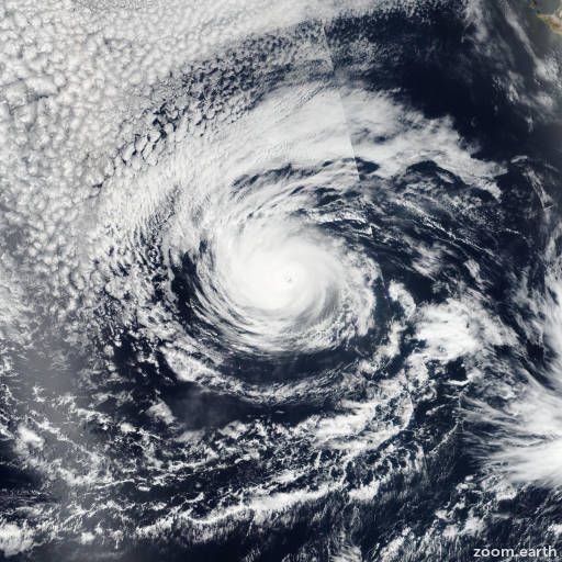 Satellite image of Hurricane Darby 2016