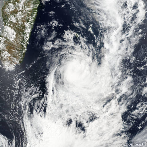 Satellite image of Storm Daya 2016